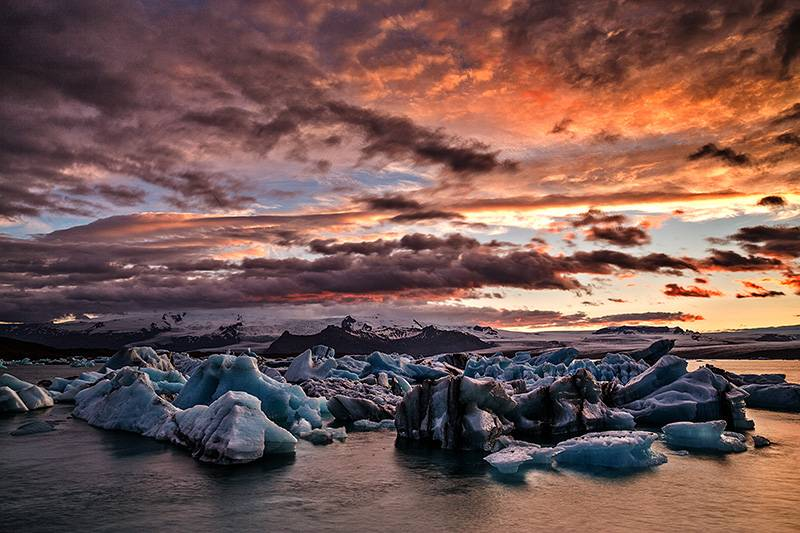 Jokulsarlon Sunset