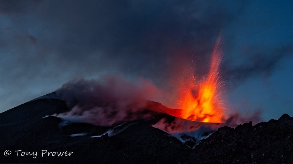 Volcano - crater eruption 2010