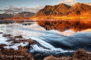 Mountain ice reflections
