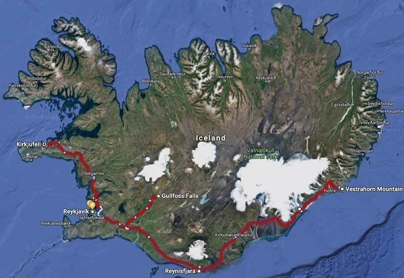 4 day route south iceland