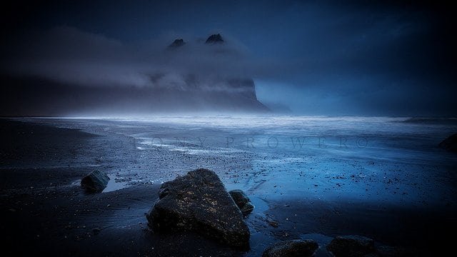 Vestrahorn blue hour photography