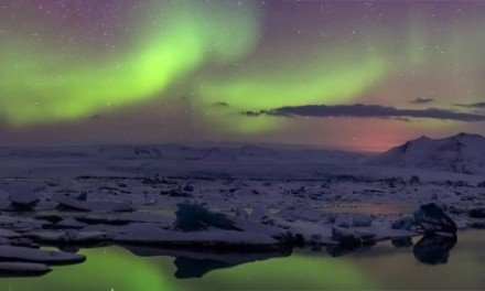 Jokulsarlon Night panorama
